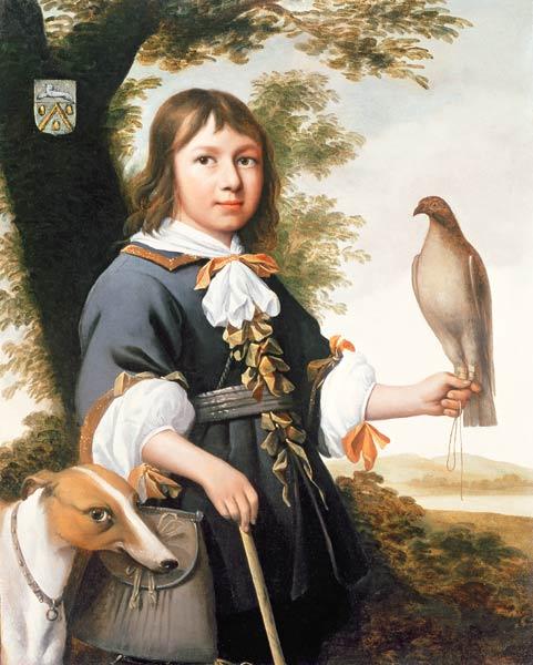 OC_1650 ca Bernard Vaillant Enfant avec un faucon et un levrier