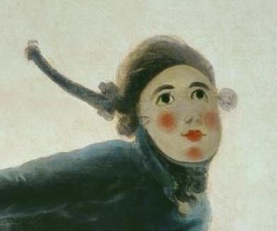 1792 Goya El pelele  Prado carton tapisserie detail
