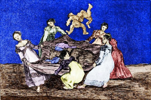 1815-25 Goya Disparates el pelele