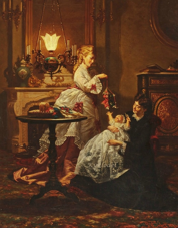 1873 Pieter Willem Sebes Amusing the baby