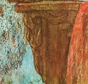 1873 Rops Dame au pantin et a l eventail Musee Rops Namur detail bouc