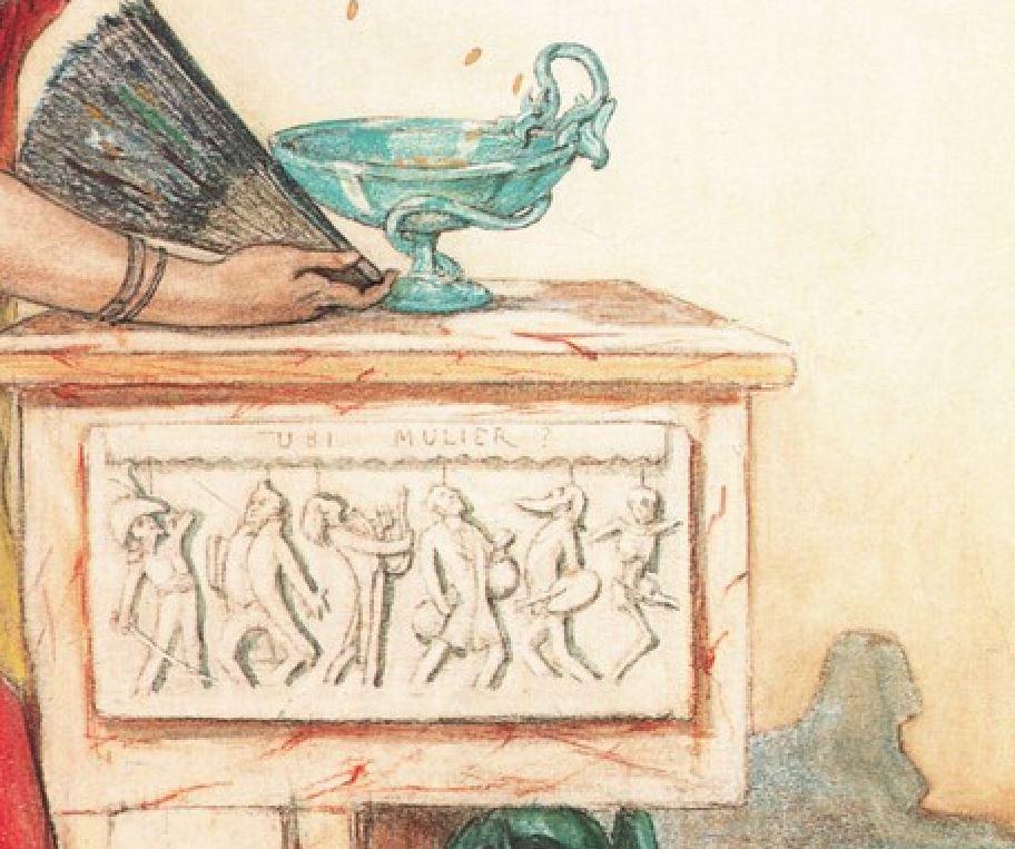 1877 _Rops_-La_Dame_au_pantin Coll Babut du Mares, Namur ubi mulier