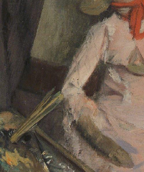 1878  L homme et le pantin  Henri Michel-Levy edgar-degas detail pinceaux