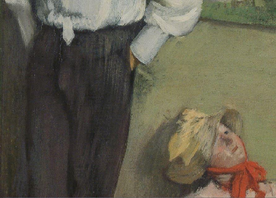 1878  L homme et le pantin  Henri Michel-Levy edgar-degas detail