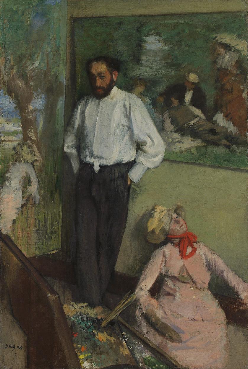 1878  L homme et le pantin  Henri Michel-Levy edgar-degas