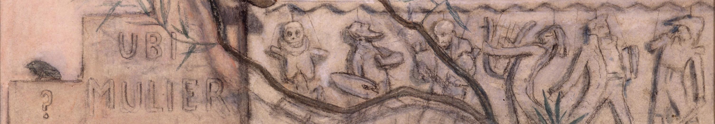 1883-85 rops Dame au Pantin  detail frise