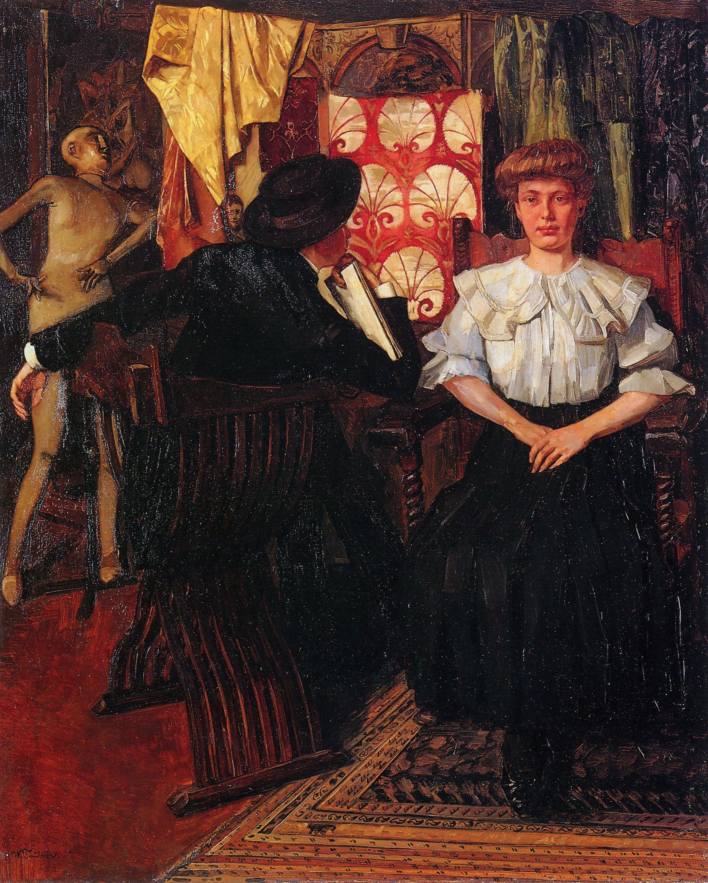 1888 Wilhelm-Trubner Studio-Interior- Nurenberg