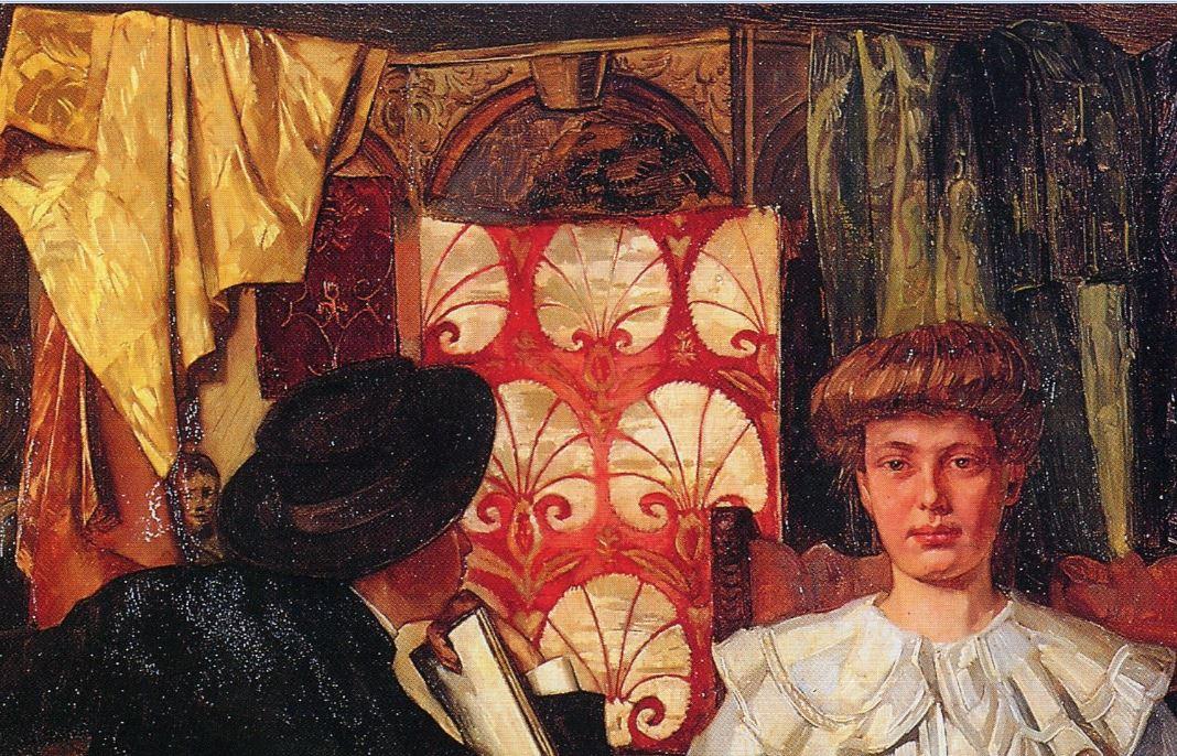 1888 Wilhelm-Trubner Studio-Interior- Nurenberg paravent