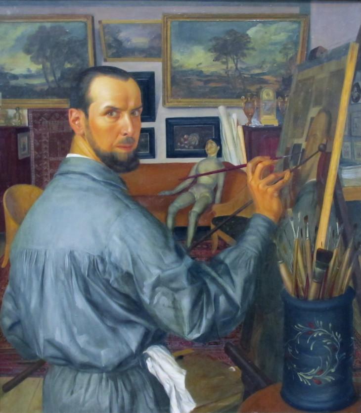 1917 alexandre-yevgenievich-yakovlev-self-portrait Tretyakov Gallery