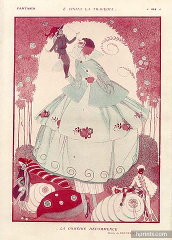 1919-umberto-brunelleschi-marionette-puppet-harlequin-art-deco-style-hprints-com