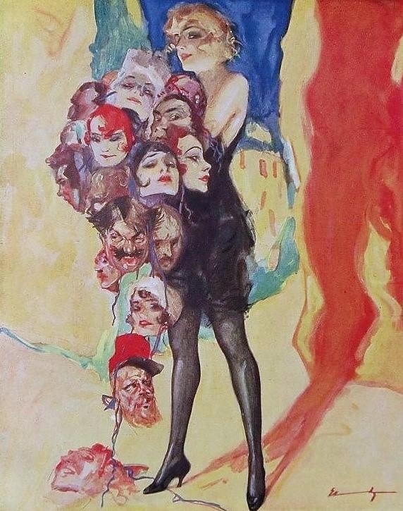 1922 Masken LUDWIG LUTZ EHRENBERGER