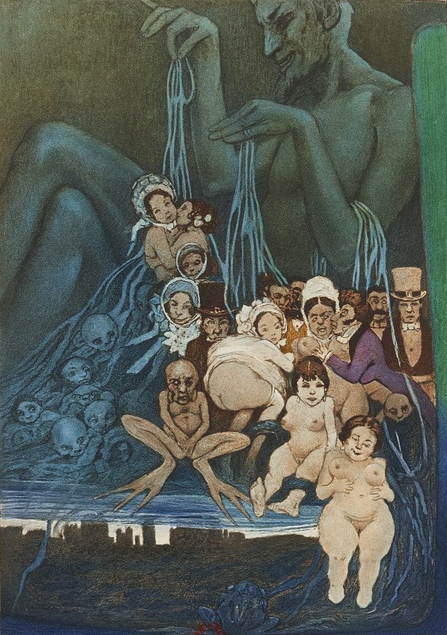 1934 Les fleurs du mal. ed Le Vasseur Manuel Orazi frontispice gallica