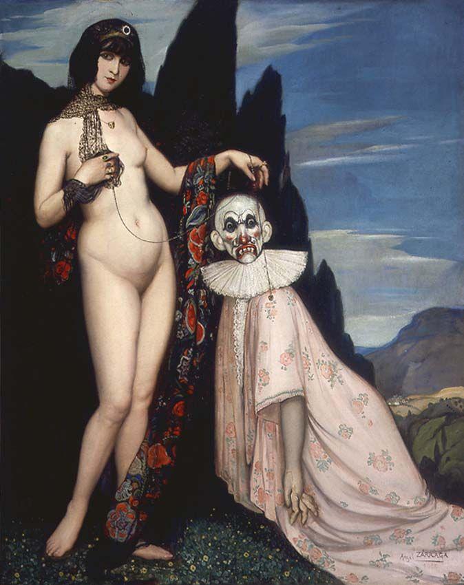 AA 1909 Angel Zarraga, La femme et le pantin