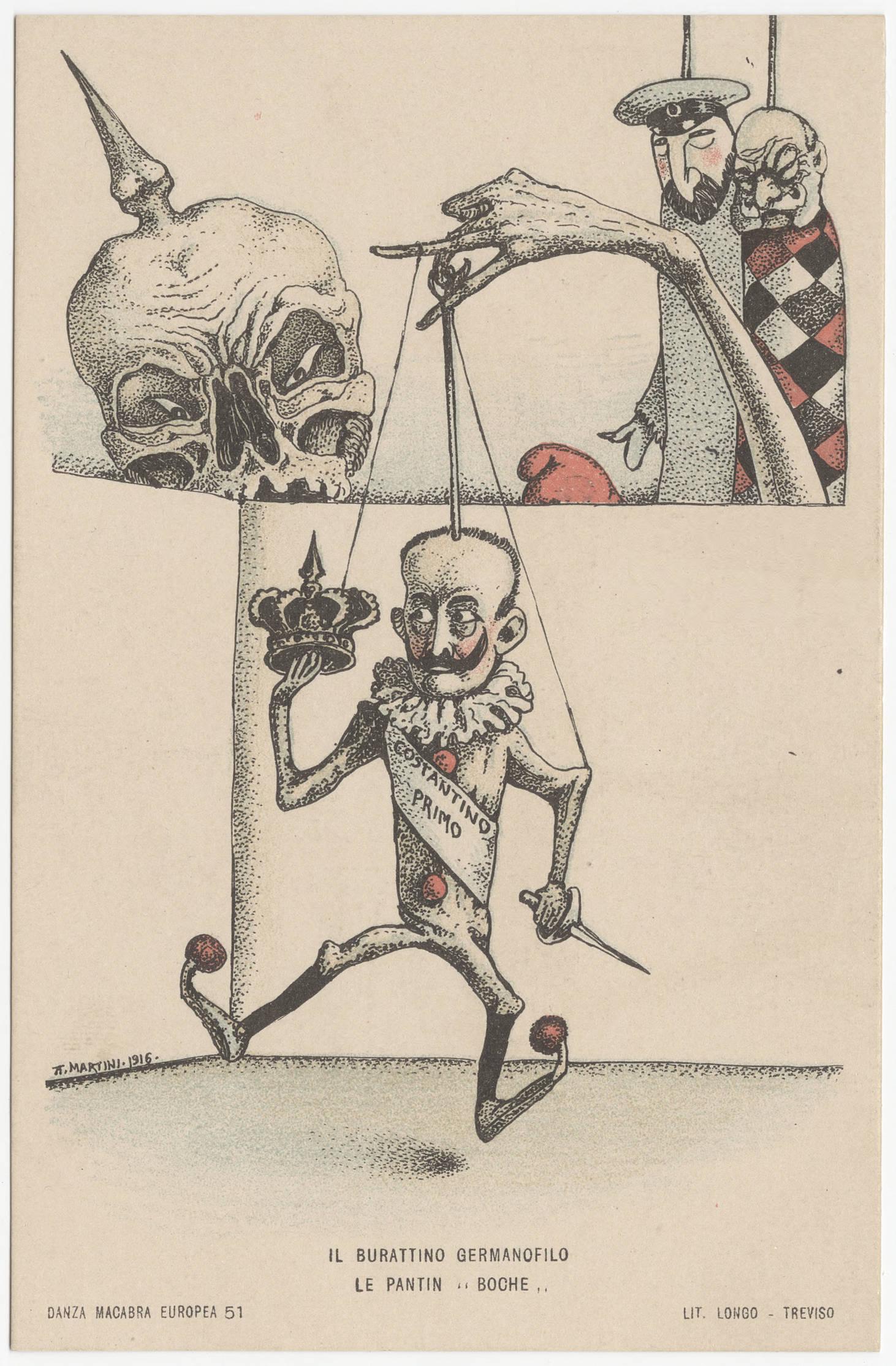 Alberto Martini 1916 Danza macabra Europea 51 Le pantin boche