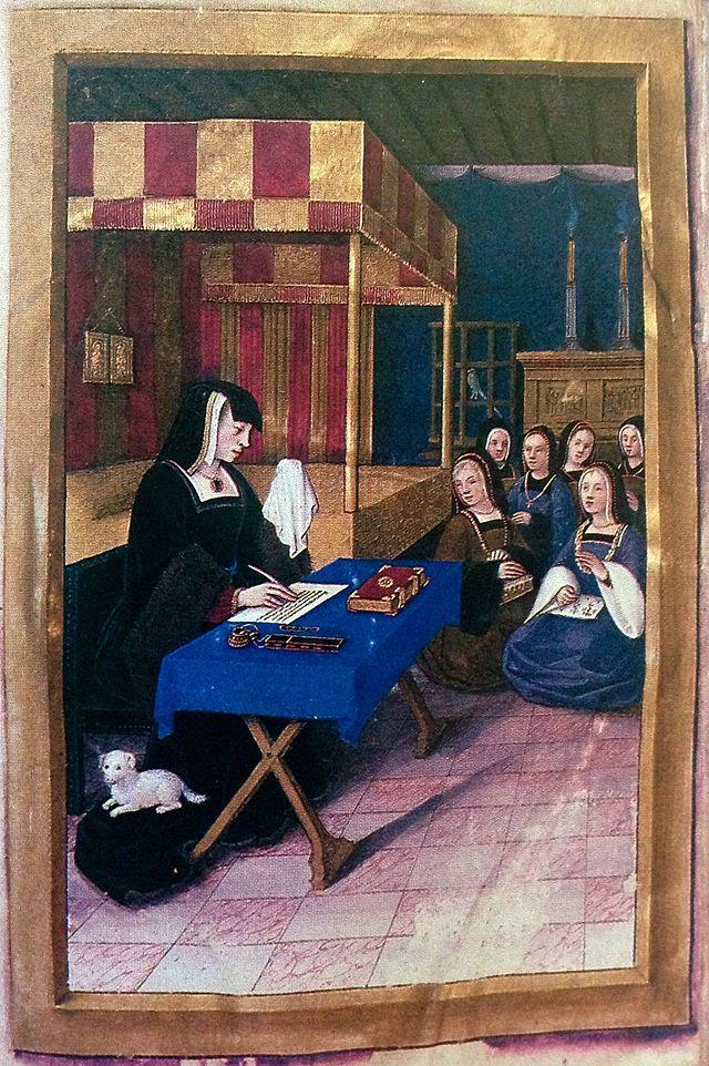 Anne-de-Bretagne-écrit-à-Louis-XII-Épitres-de-poètes-royaux-folio-1v-Fr-Fv-XIV-8-BNR-St-Petersburg