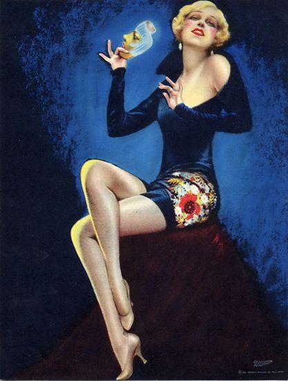 Charles Gates Sheldon The Glorified American Girl, Brown and Bigelow calendar pin-up, 1932