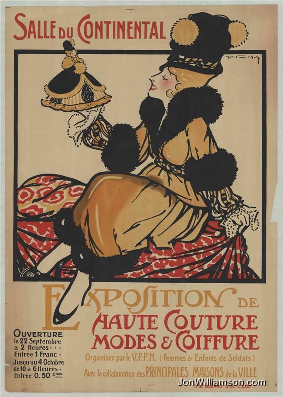 Exposition de Haute Couture Liege 1907 Salle Du Continental