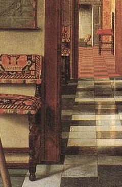 Hoogstraten_corridor_trois_chaises