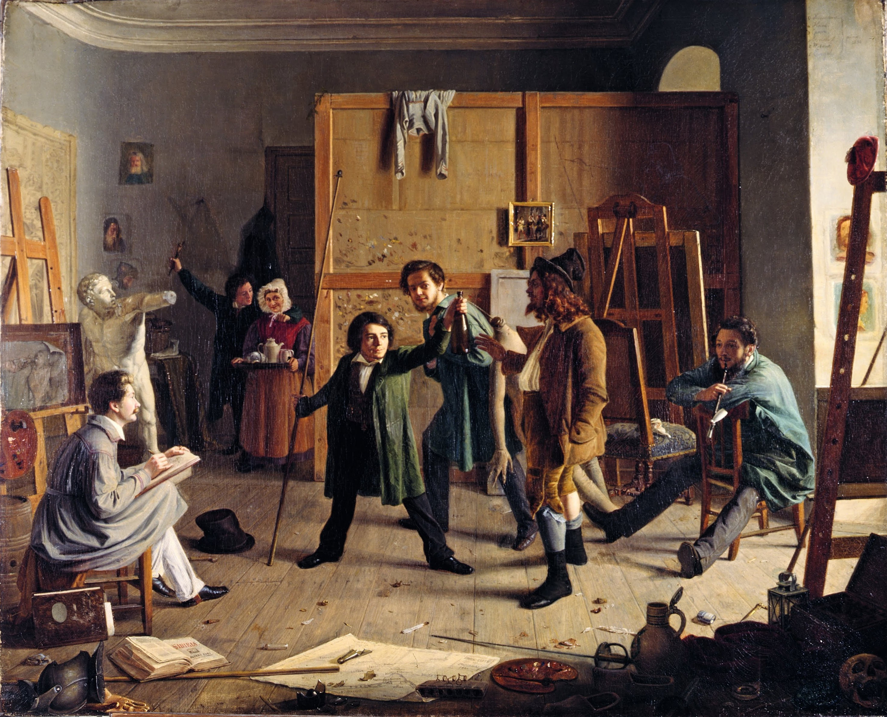Johann_Peter_Hasenclever,_Atelierszene_1836 Museum Kunstpalast Dusseldorf