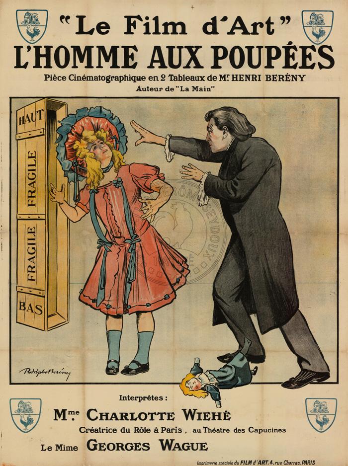 L'Homme aux poupees affiche de film 1909 par Rodolphe Bereny