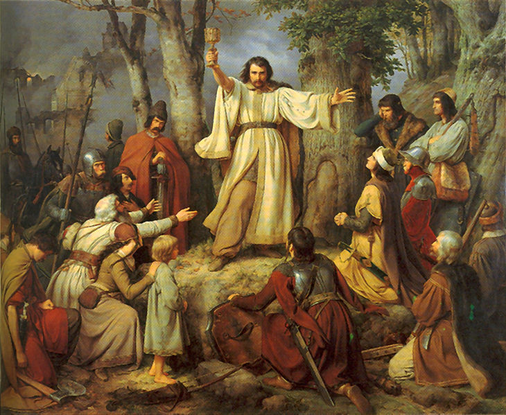 Le sermon du Hussite Carl Friedrich Lessing 1836 Alte Nationalgalerie Berlin