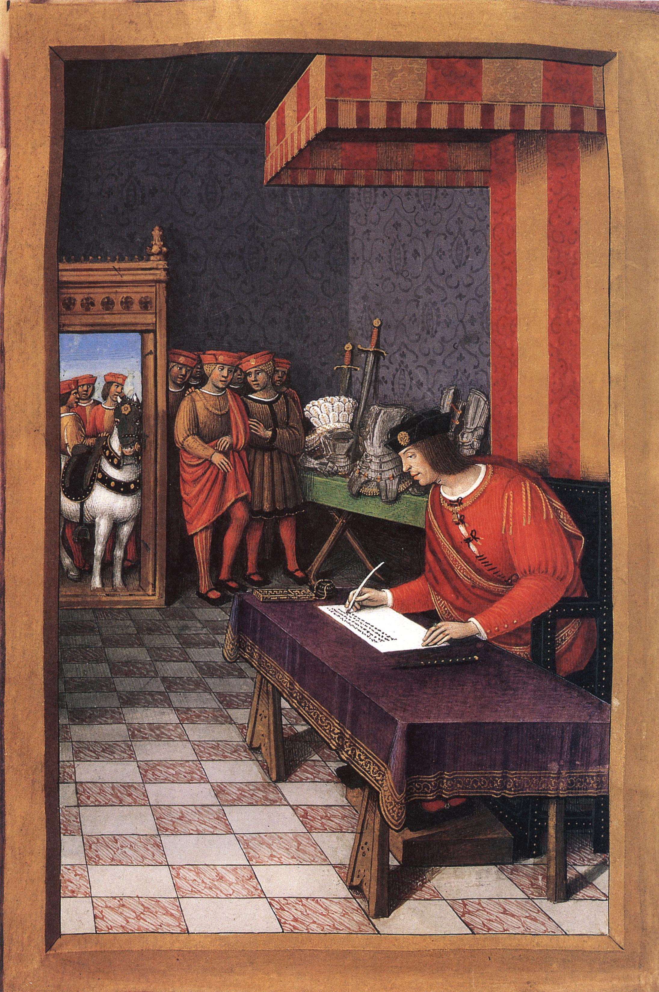 Louis-XII-ecrivant-a-Anne-de-Bretagne-Épitres-de-poètes-royaux-folio-51v-Fr-Fv-XIV-8-BNR-St-Petersburg