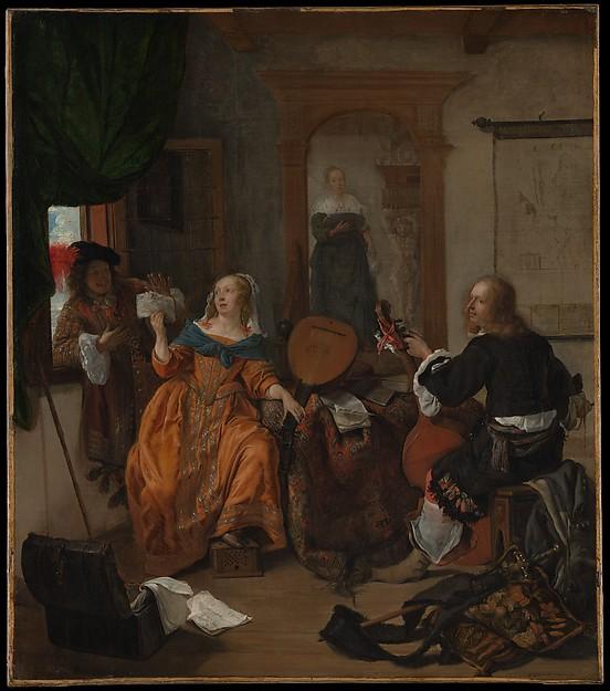 Metsu La partie de musique , Metropolitan Museum, New York