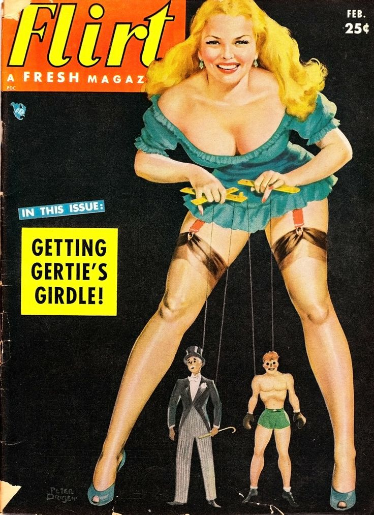 PETER DRIBEN - Getting Gertie's Girdle - Feb 1953 Flirt magazine