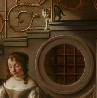 hoogstraten mauritshuis young woman with a letter_Oculus