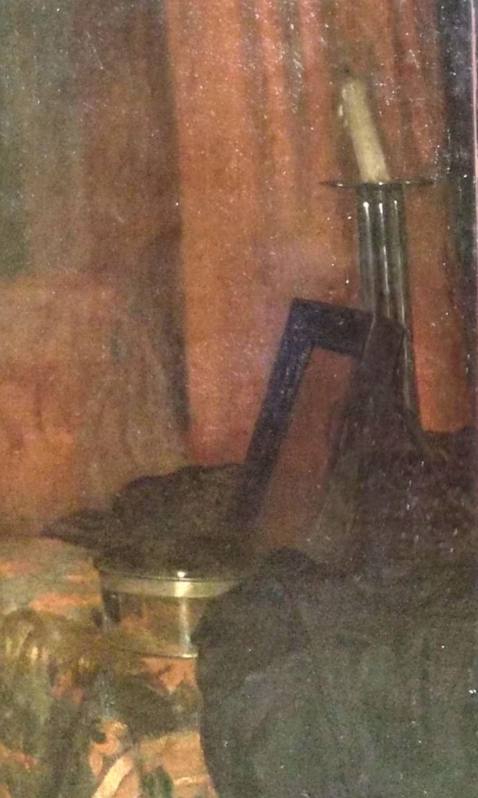 1658-60 Netscher Dame a sa toilette Musee des BA Bale detail