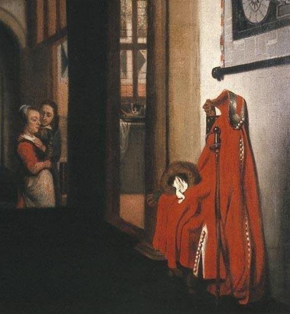 Nicolaes Maes The eavesdropper 1657 Dordrechts Museum Dordrecht detail