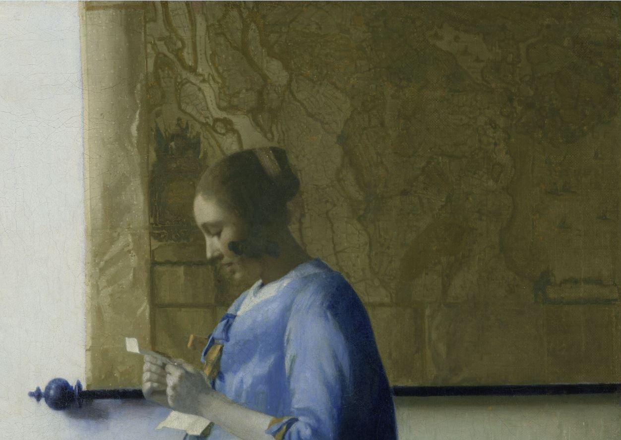 Vermeer Carte Jeune fille en bleu