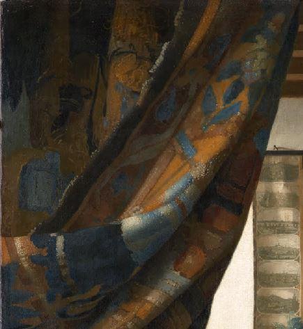Vermeer Johannes Art de la Peinture_rideau