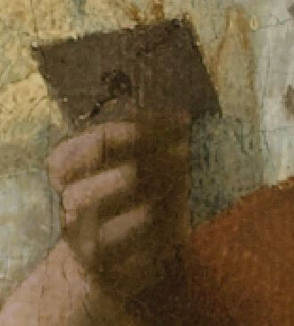 Vermeer Johannes The_Loveletter detail lettre