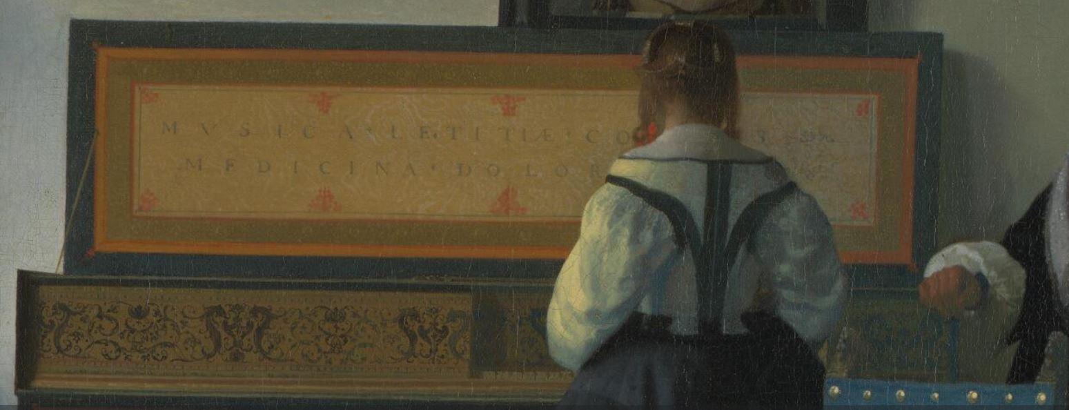 Vermeer la lecon de musique detail