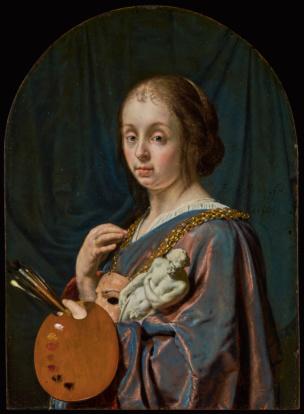 Allegorie de la Peinture par Frans van Mieris le Vieux, 1661 Getty Museum