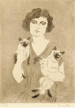 Aquatinte extraite de Tu m'aimeras (comédie en trois actes de Claude Dazil) Léonard Tsuguharu Foujita 1926