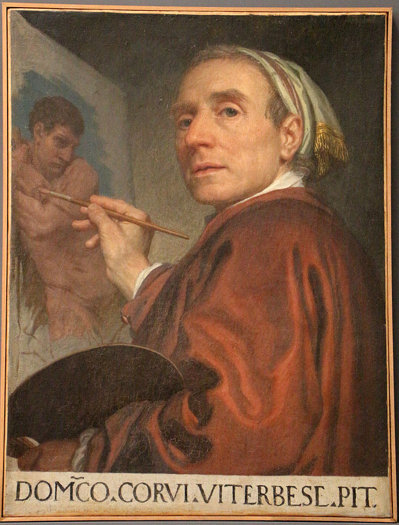 Autoportrait Domenico_Corvi 1785 Accademia di San Luca Palazzo Carpegna Roma