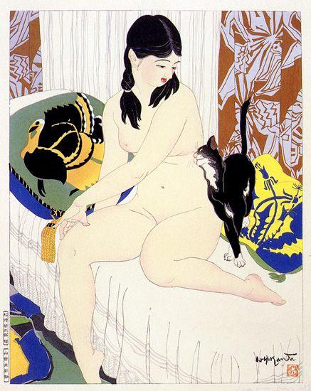 Black Cat by Ishikawa Toraji, 1934