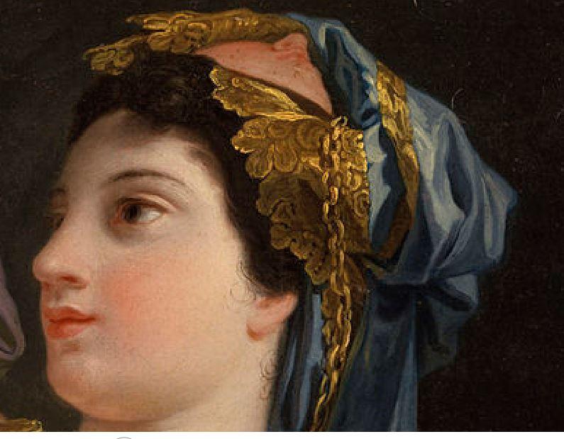 Domenico Corvi La Peinture 1764 Walters art museum baltimore detail
