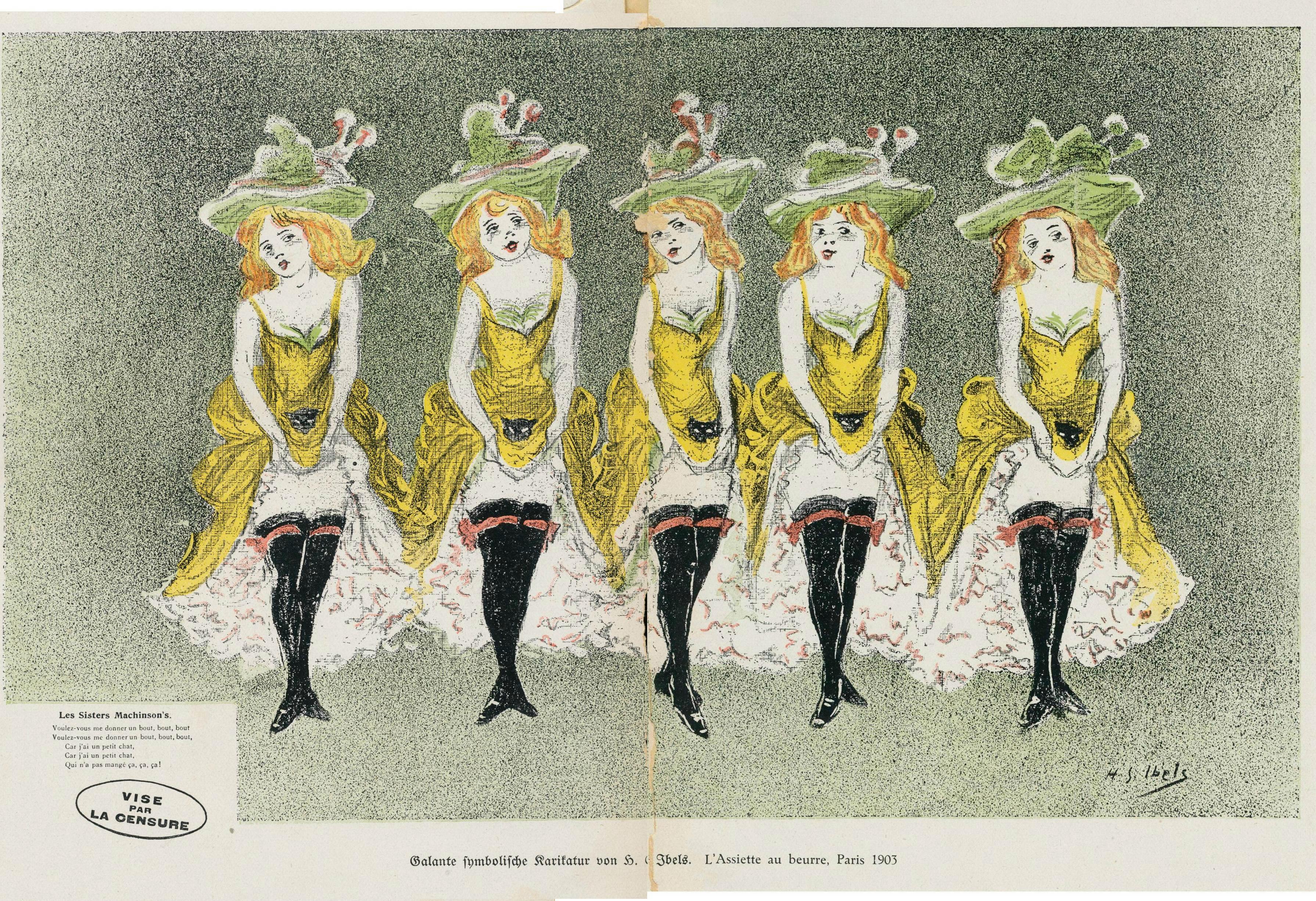H IBELS, Les Sisters Machinson s, 1901 ASSIETTE AU BEURRE