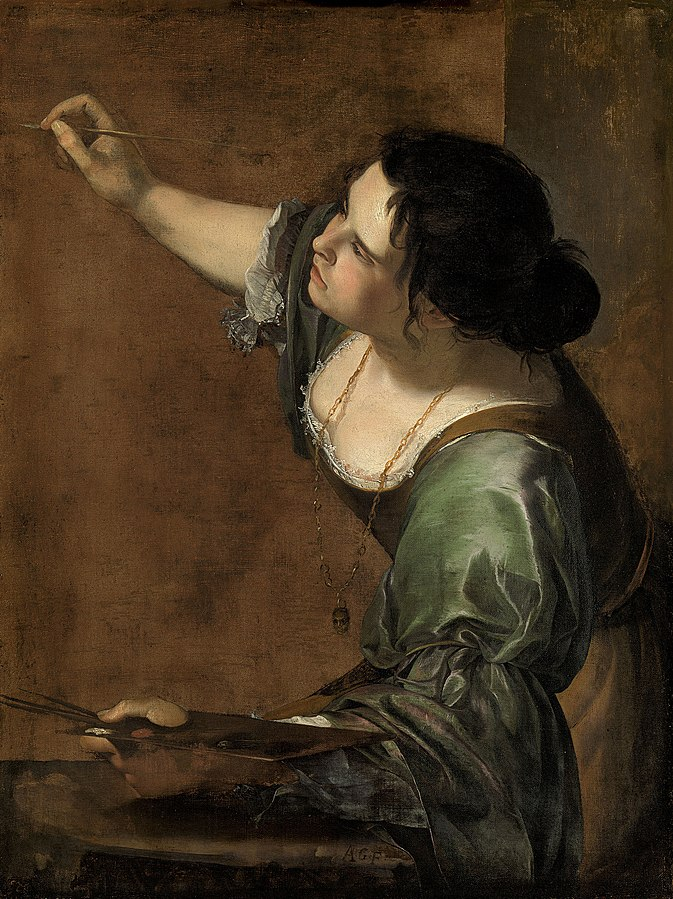 Self-portrait_as_the_Allegory_of_Painting_(La_Pittura)_-_Artemisia_Gentileschi 1638-1639, Royal Trust, Windsor