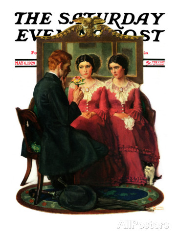 norman-rockwell-man-courting-two-sisters-saturday-evening-post-cover-may-4-1929