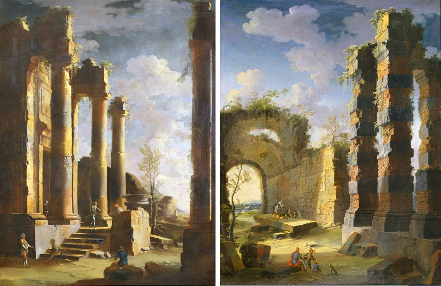coccorante_-_capriccio_with_ancient_ruins_and_figure_dawn_2
