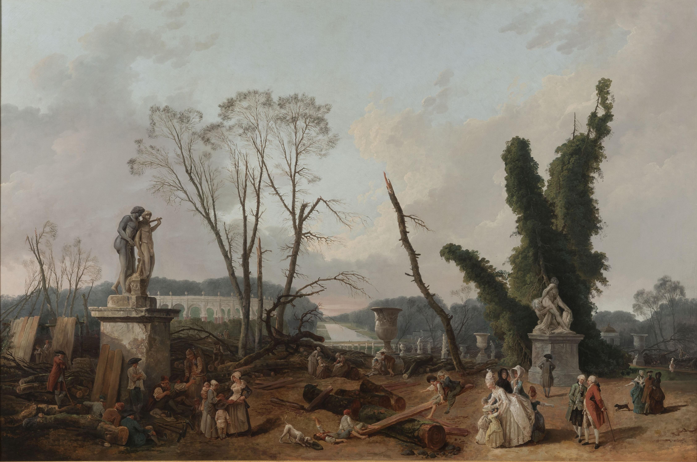 hubert-robert-1777-lentree-du-tapis-vert-a-versailles-musee-national-du-chateau-de-versailles