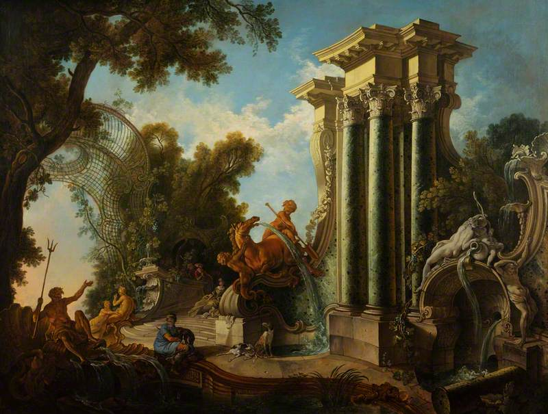 de Lajoue II, Jacques, 1687-1761; Neptune's Fountain