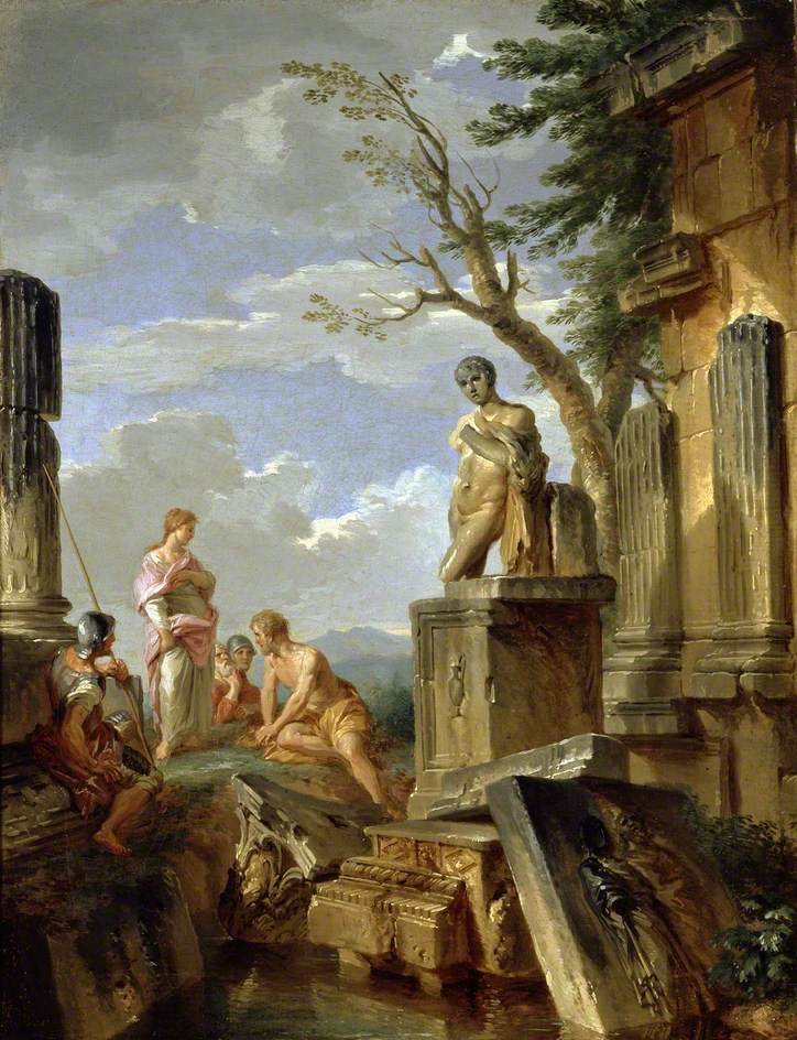 panini-1720-ca-ruins-with-a-sibyl-and-other-figures-hashmolean-museum-university-of-oxford