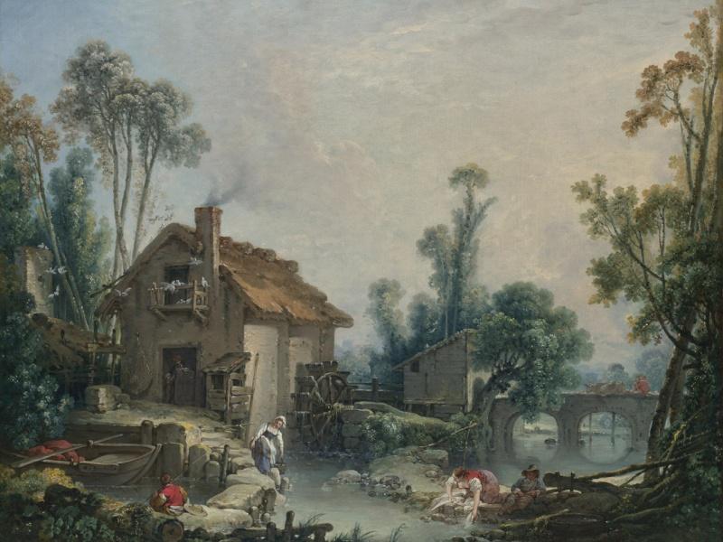 boucher-1755-paysage-avec-un-moulin-national-gallery