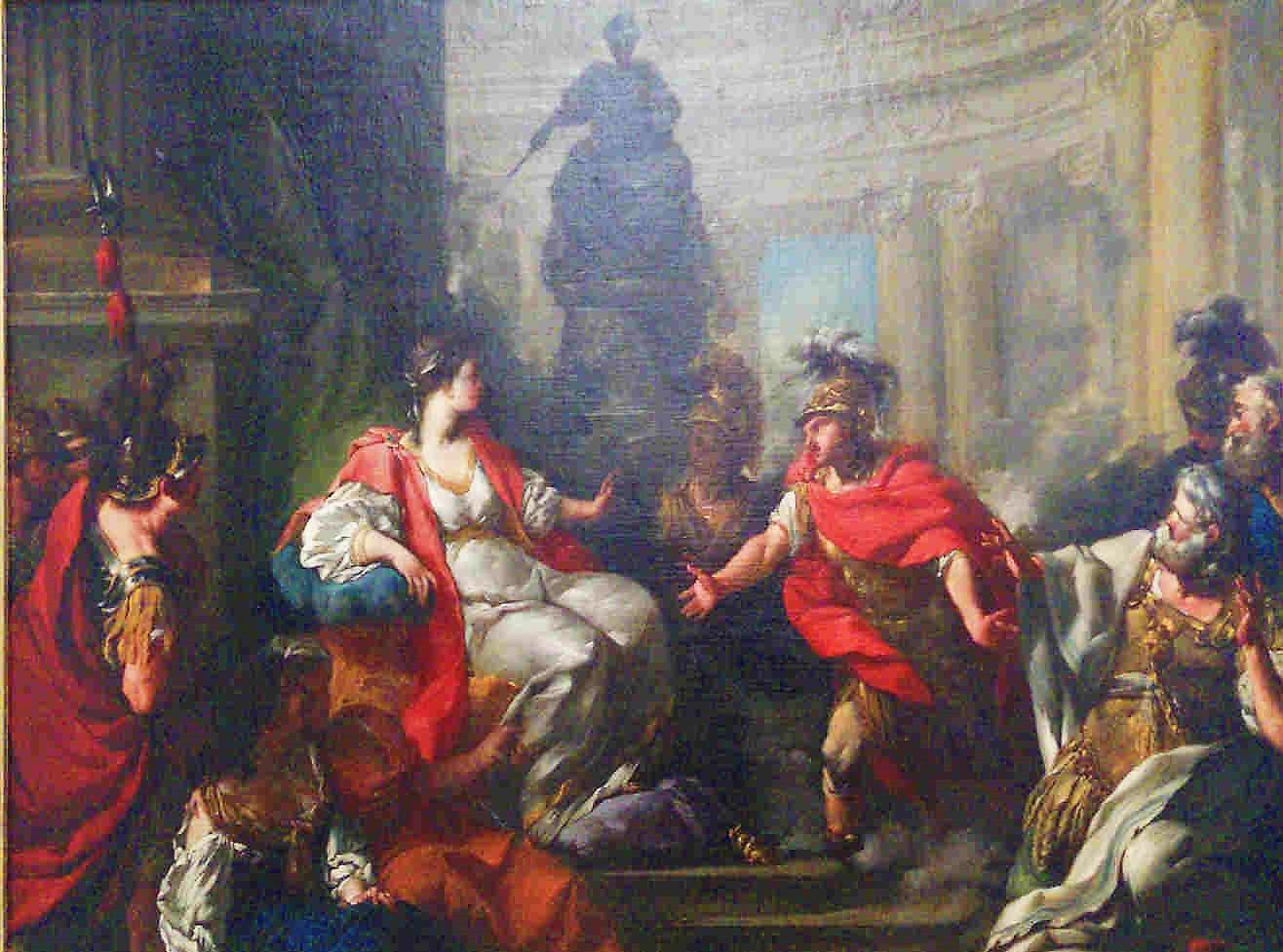 Anonyme 1750-60 Rencontre de Didon et Enee Musee de Nancy