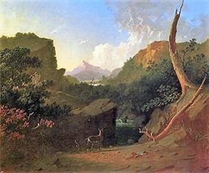 Bingham 1852-53 Deer in a stormy landscape The Amschutz collection Denver